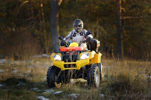 Man driving ATV